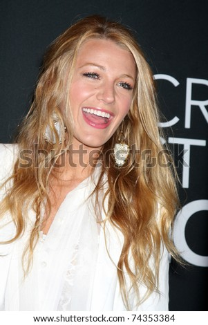 LAS VEGAS - MAR 31: Blake Lively arrives at the Warner Brother Presentation at the CinemaCon Convention at Caesar's Palace on March 31, 2011 in Las Vegas, NV - stock photo