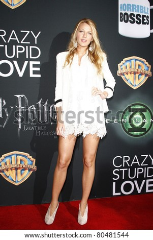 LAS VEGAS - MAR 31: Blake Lively at a Warner Bros. Pictures presentation to promote the new film, 'Green Lantern' at Caesars Palace during CinemaCon on March 31, 2011. - stock photo
