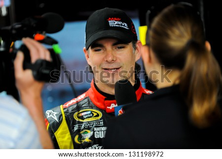 LAS VEGAS - MAR 09: Jeff Gordon at the Nascar Kobalt 400 in Las Vegas, NV on Mar 09, 2013 - stock photo