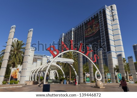 LAS VEGAS - MAY 20, 2013 - Ballys hotel on May 20, 2013  in Las Vegas. Ballys features 2,814 extra-sized guestrooms that are 450 sq ft or larger and over 175,000 sq ft of banquet and meeting space. - stock photo
