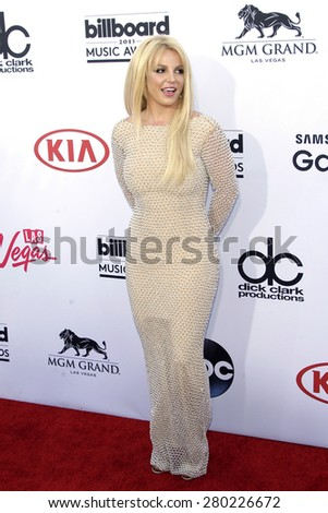 LAS VEGAS - MAY 17: Britney Spears at the 2015 Billboard Music Awards at the MGM Grand Garden Arena on May 17, 2015 in Las Vegas, Nevada. - stock photo