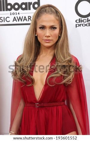 LAS VEGAS - MAY 18:  Jennifer Lopez at the 2014 Billboard Awards at MGM Grand Garden Arena on May 18, 2014 in Las Vegas, NV - stock photo