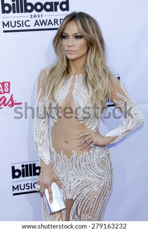 LAS VEGAS - MAY 17:  Jennifer Lopez at the Billboard Music Awards 2015 at the MGM Garden Arena on May 17, 2015 in Las Vegas, NV - stock photo