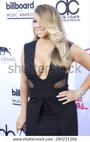 LAS VEGAS - MAY 17: Mariah Carey at the 2015 Billboard Music Awards at the MGM Grand Garden Arena on May 17, 2015 in Las Vegas, Nevada. - stock photo