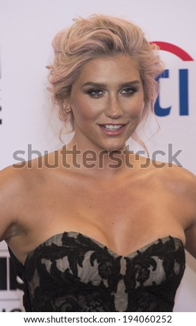LAS VEGAS - MAY 18 : Recording artist Kesha attends the 2014 Billboard Music Awards press room at the MGM Grand Garden Arena on  May 18 , 2014 in Las Vegas. - stock photo