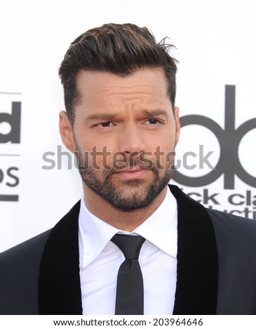 LAS VEGAS - MAY 18:  Ricky Martin arrives to the Billboard Music Awards 2014  on May 18, 2014 in Las Vegas, NY                 - stock photo