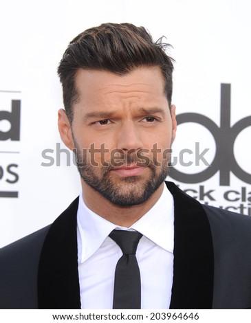 LAS VEGAS - MAY 18:  Ricky Martin arrives to the Billboard Music Awards 2014  on May 18, 2014 in Las Vegas, NY                 - stock photo