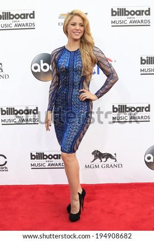 LAS VEGAS - MAY 18:  Shakira at the 2014 Billboard Awards at MGM Grand Garden Arena on May 18, 2014 in Las Vegas, NV - stock photo