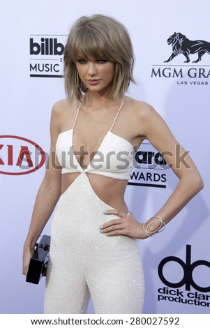 LAS VEGAS - MAY 17:  Taylor Swift at the Billboard Music Awards 2015 at the MGM Garden Arena on May 17, 2015 in Las Vegas, NV - stock photo