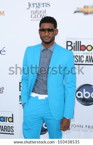 LAS VEGAS - MAY 20: Usher at the 2012 Billboard Music Awards held at the MGM Grand Garden Arena on May 20, 2012 in Las Vegas, Nevada