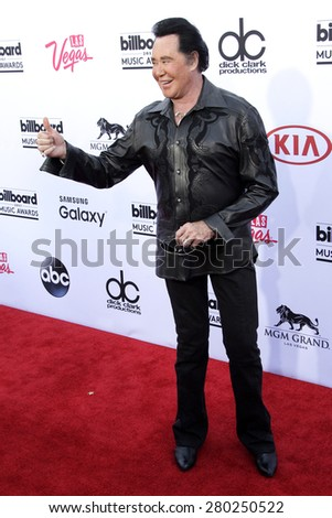 LAS VEGAS - MAY 17: Wayne Newton at the 2015 Billboard Music Awards at the MGM Grand Garden Arena on May 17, 2015 in Las Vegas, Nevada. - stock photo