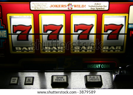 Las Vegas Mega Jackpot Win! - stock photo