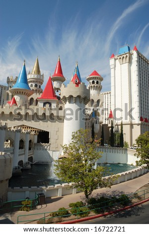 Las Vegas, Nevada - 05 August 2008: Excalibur Hotel and Casino; one of many hotels featuring children's attractions; opened  June 19, 1990. - stock photo