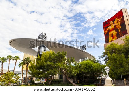 LAS VEGAS, NEVADA  USA - July 7 2015: Fashion Show Mall, one of the largest enclosed malls in the world with more than 250 stores .  About 40 million people visiting the city each year.