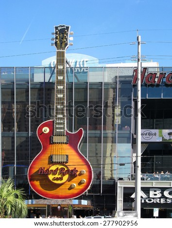 LAS VEGAS, NEVADA, USA  - NOVEMBER 11: The Hard Rock Cafe in Las Vegas  2012 - stock photo