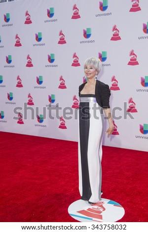 LAS VEGAS , NOV 19 : Actress Rita Moreno attends the 16th Annual Latin GRAMMY Awards on November 19 2015 at the MGM Grand Arena in Las Vegas, Nevada - stock photo