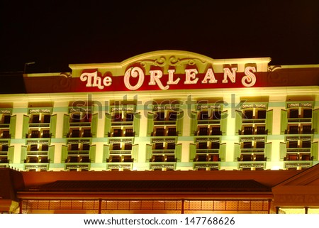 LAS VEGAS - NOVEMBER 30: The Orleans Hotel and Casino on November 30, 2011 in Las Vegas. The Orleans has a Mardi Gras theme and was opened in the year 1996.