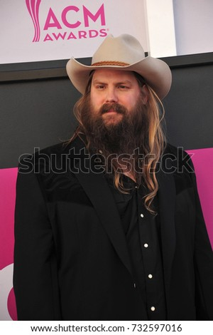 LAS VEGAS, NV - April 02, 2017: Chris Stapleton at the Academy of Country Music Awards 2017 at the T-Mobile Arena, Las Vegas