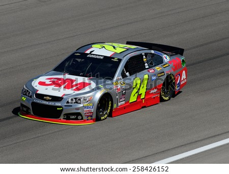 LAS VEGAS, NV - March 06: Jeff Gordon at the Nascar Sprint Cup Kobalt 400 race at Las Vegas Motorspeedway in Las Vegas, NV on March 06, 2015