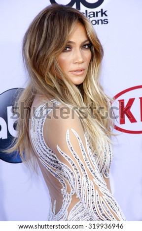 LAS VEGAS, NV - MAY 17: 2015: Jennifer Lopez at the 2015 Billboard Music Awards held at the MGM Garden Arena in Las Vegas, USA on May 17, 2015. - stock photo