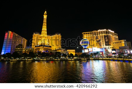 LAS VEGAS, NV/USA - MARCH 25: The Paris hotel and casino on March 25, 2016 in Las Vegas.