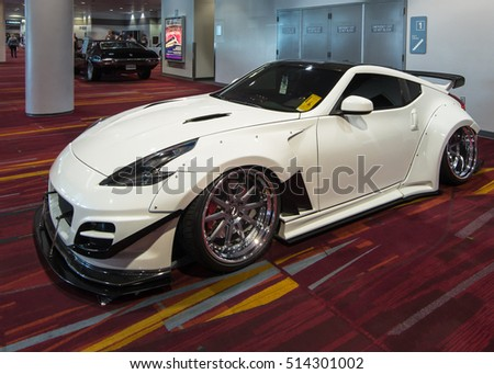 LAS VEGAS, NV/USA - OCTOBER 31, 2016: Customized Nissan car at the Specialty Equipment Market Association (SEMA) 50th Anniversary auto trade show.