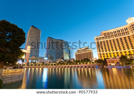 Las Vegas - 11 Sep 2010  - Bellagio Hotel Casino during sunset
