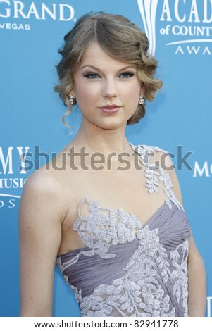 LAS VEGAS - SEP 18: Taylor Swift at the 45th Annual Academy of Country Music Awards held the MGM Grand Garden Arena in Las Vegas, Nevada on April 18, 2010 - stock photo