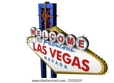 Las Vegas Sign, viewed from Above - stock photo