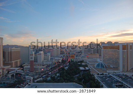 Las Vegas Skyline - stock photo