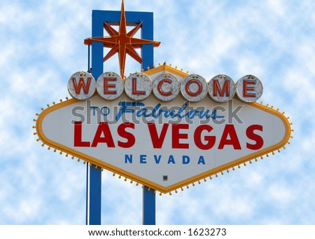 Las Vegas Strip Sign with Cloud Background