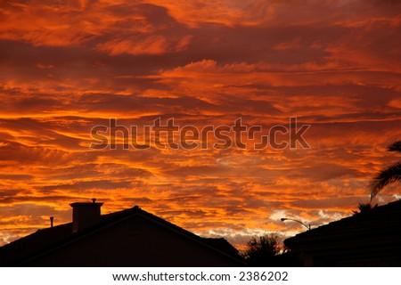 Las Vegas Sunset - stock photo