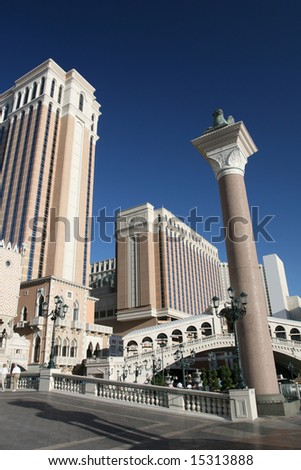 Las Vegas Themed Hotel - stock photo