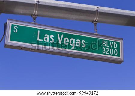 Las Vegas traffic sign - stock photo