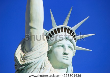 LAS VEGAS, USA - MARCH 19: Replica of Statue of Liberty at New York - New York hotel and casino on March 19, 2013 in Las Vegas, USA. Las Vegas is one of the top tourist destinations in the world.