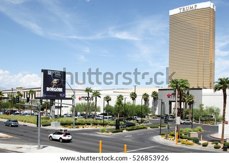Las Vegas, USA - november 3, 2016: Trump International Hotel in Las Vegas, NV, named for real estate developer and politician Donald Trump. The luxury property's windows are gilded with 24-carat gold