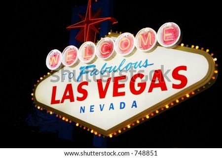 Las Vegas welcome sign - stock photo