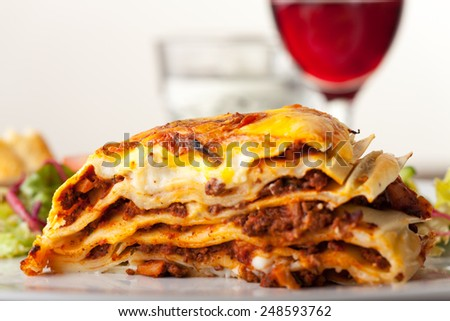 Lasagna, an italian pasta dish  - stock photo
