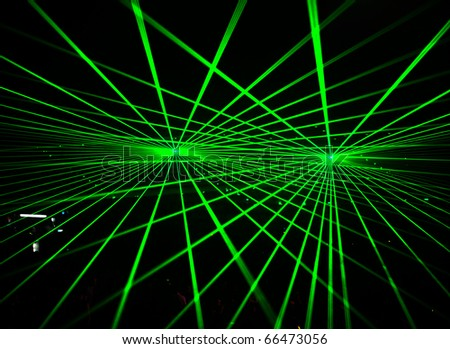Laser Show at a live concert - stock photo