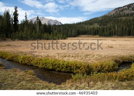 Lassen Volcanic National Park in California, USA - Lassen Peak in background