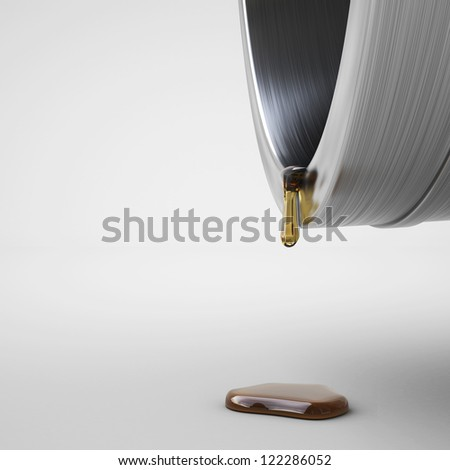 Last drop of fuel, over white background - stock photo