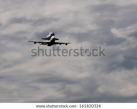 Last flight of Space Shuttle Discovery - stock photo