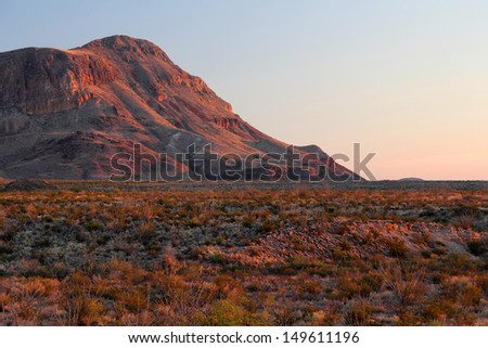 Last Light over the Chihuahuan Desert, Big Bend National Park, Texas - stock photo