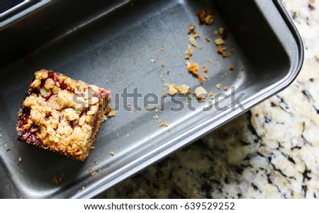 Last Peanut Butter and Strawberry Jelly Oat Bar Left