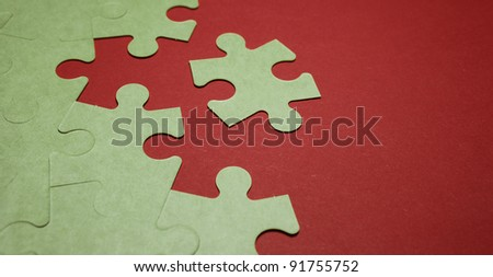 Last piece of puzzle - stock photo