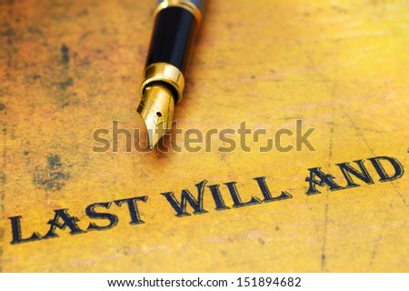 Last will and testament - stock photo