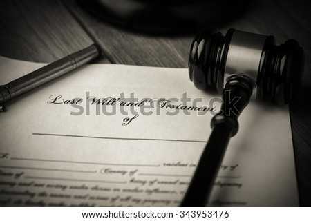 Last Will And Testament Stock Images, Royalty-Free Images