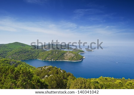 Lastovo Island at Adriatic Sea, Croatia. - stock photo