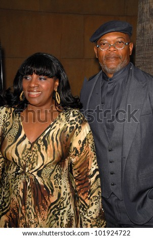 """LaTanya Richardson and Samuel L. Jackson at the Los Angeles Premiere of """"Mother and Child,"""" Egyptian Theater, Hollywood, CA. 04-19-10 - stock photo"""