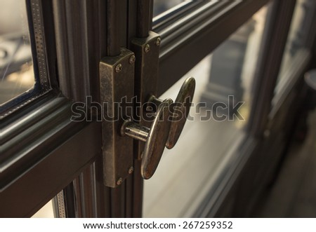 latch asian vintage style - stock photo